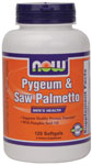 NOW Foods Pygeum & Saw Palmetto Plus Pumpkin Seed Oil 120 Softgels