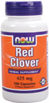 NOW Foods Red Clover 425 mg 100 Capsules