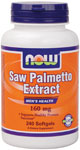 NOW Foods Saw Palmetto Extract 160 mg  240 Softgels