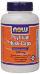NOW Foods Psyllium Husk Caps 500 mg  200 Capsules