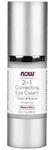 NOW Foods 2 in 1 Correcting Eye Cream 1 Ounce