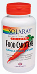 Solaray Food Carotene 25,000 IU 200 Softgels