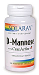 Solaray D-Mannose with CranActin® 60 Vegetarian Capsules