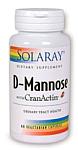 Solaray D-Mannose with CranActin® 60 Vegetarian Capsules