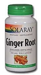 Solaray Ginger Root 550 mg 100 Capsules
