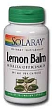 Solaray Lemon Balm Herb 395 mg 100 Capsules