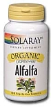 Solaray Alfalfa Organic 430 mg 100 Vegetarian Capsules
