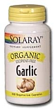 Solaray Organic Garlic   600 mg   100 Vegetarian Capsules