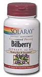 Solaray  Bilberry Extract 42 mg  60 Capsules