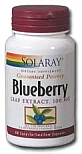 Solaray Blueberry Leaf Extract 100 mg 60 Capsules
