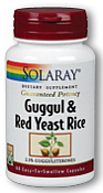Solaray Guggul & Red Yeast Rice 60 Capsules