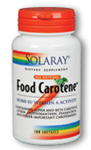 Solaray Food Carotene 10,000 IU 100 Softgels