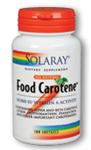 Solaray Food Carotene 10,000 IU 100 Softgels