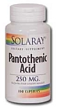 Solaray  Pantothenic Acid 250 mg   100 Capsules