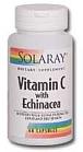 Solaray Vitamin C with Echinacea 60 Capsules
