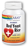 Solaray  Red Yeast Rice 600 mg  120 Capsules