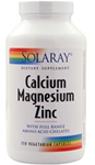 Solaray Calcium, Magnesium, Zinc 250 Capsules