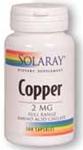 Solaray Copper 2 mg 100 Tablets