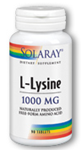 Solaray L-Lysine 1,000 mg 90 Tablets